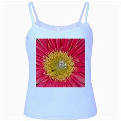 A Red Flower Baby Blue Spaghetti Tank