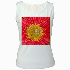 A Red Flower Womens  Tank Top (White)