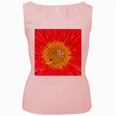 A Red Flower Womens  Tank Top (Pink)
