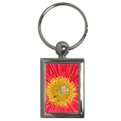 A Red Flower Key Chain (rectangle)