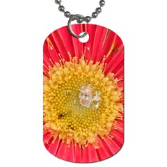 A Red Flower Dog Tag (two Sided)