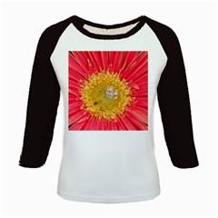 A Red Flower Women s Long Cap Sleeve T-Shirt
