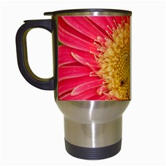 A Red Flower Travel Mug (White)