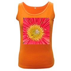 A Red Flower Womens  Tank Top (dark Colored)