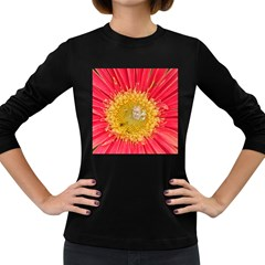 A Red Flower Womens' Long Sleeve T Shirt (dark Colored)