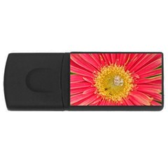A Red Flower 4GB USB Flash Drive (Rectangle)