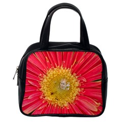 A Red Flower Classic Handbag (one Side)