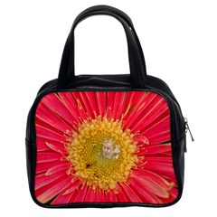 A Red Flower Classic Handbag (Two Sides)