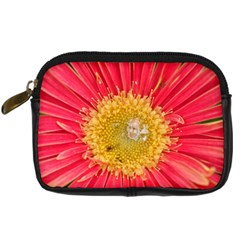 A Red Flower Digital Camera Leather Case
