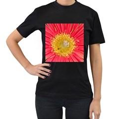 A Red Flower Womens' T Shirt (black)