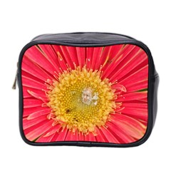 A Red Flower Mini Travel Toiletry Bag (Two Sides)