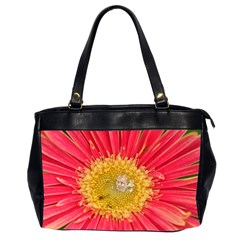 A Red Flower Oversize Office Handbag (two Sides)