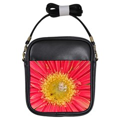 A Red Flower Girl s Sling Bag