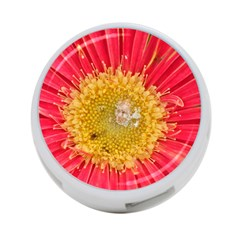 A Red Flower 4 Port Usb Hub (one Side)