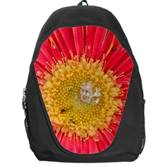 A Red Flower Backpack Bag