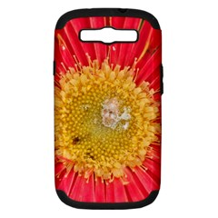 A Red Flower Samsung Galaxy S III Hardshell Case (PC+Silicone)