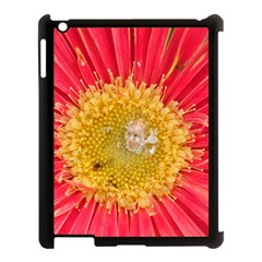 A Red Flower Apple iPad 3/4 Case (Black)