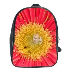 A Red Flower School Bag (XL)