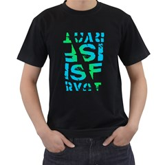 ISF & RYOT Design Mens' Two Sided T-shirt (Black)