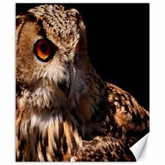 Owl Canvas 8  X 10  (unframed)