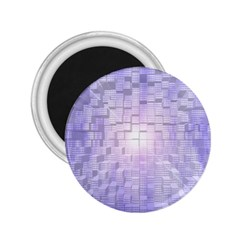 Purple Cubic Typography 2 25  Button Magnet