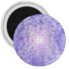 Purple Cubic Typography 3  Button Magnet