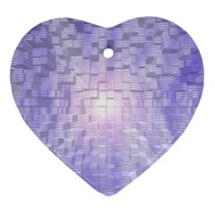Purple Cubic Typography Heart Ornament