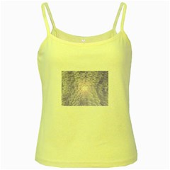 Purple Cubic Typography Yellow Spaghetti Tank
