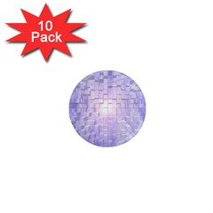 Purple Cubic Typography 1  Mini Button Magnet (10 pack)