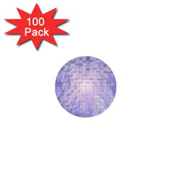Purple Cubic Typography 1  Mini Button (100 pack)