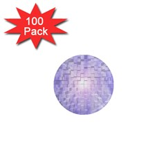 Purple Cubic Typography 1  Mini Button Magnet (100 pack)