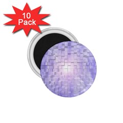 Purple Cubic Typography 1.75  Button Magnet (10 pack)
