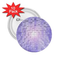 Purple Cubic Typography 2 25  Button (10 Pack)