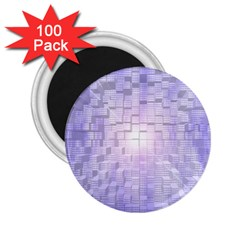 Purple Cubic Typography 2.25  Button Magnet (100 pack)