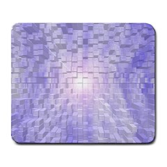 Purple Cubic Typography Large Mouse Pad (Rectangle)