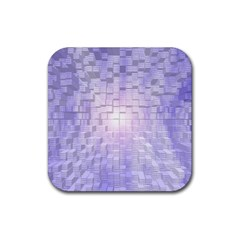 Purple Cubic Typography Drink Coaster (square)
