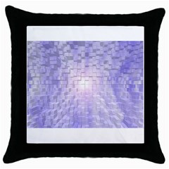 Purple Cubic Typography Black Throw Pillow Case