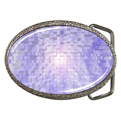 Purple Cubic Typography Belt Buckle (Oval)