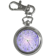 Purple Cubic Typography Key Chain & Watch