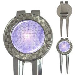 Purple Cubic Typography Golf Pitchfork & Ball Marker