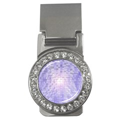 Purple Cubic Typography Money Clip (CZ)