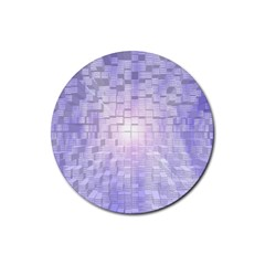 Purple Cubic Typography Drink Coasters 4 Pack (Round)