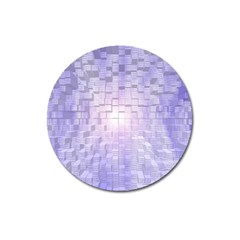 Purple Cubic Typography Magnet 3  (round)