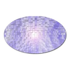 Purple Cubic Typography Magnet (Oval)
