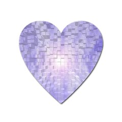 Purple Cubic Typography Magnet (Heart)