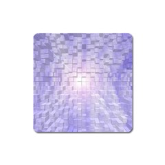 Purple Cubic Typography Magnet (square)