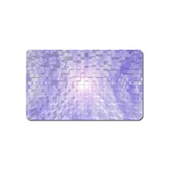 Purple Cubic Typography Magnet (Name Card)