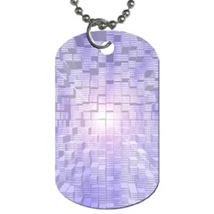 Purple Cubic Typography Dog Tag (One Sided)