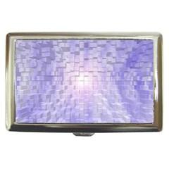 Purple Cubic Typography Cigarette Money Case