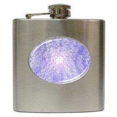 Purple Cubic Typography Hip Flask